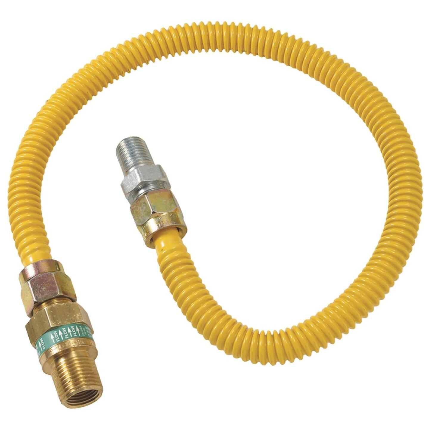 BrassCraft Safety +PLUS 1/2 In. x 3/8 In. x 18 In. Gas Connector Image 1