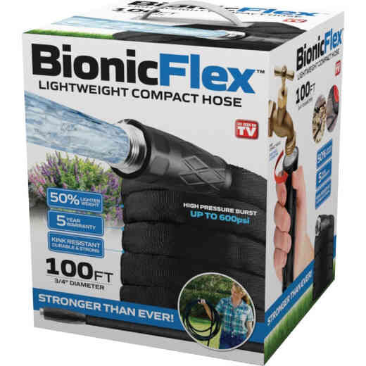 Bionic Force 5/8 In. x 100 Ft. Garden Hose With Aluminum Fittings