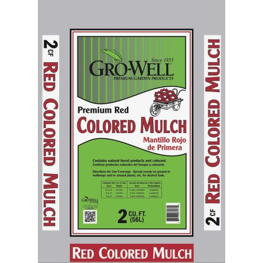GRO-WELL 2 Cu. Ft. Red Natural Forest Products Mulch
